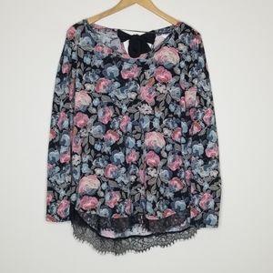L.C. Lauren Conrad floral tunic size XL